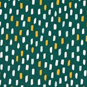 Baumwollstoff Pinselstriche,  ockergelb dunkelgrün