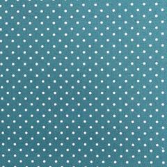 Baumwollstoff kleine Punkte beschichtet Petite Dots, weiß petrol
