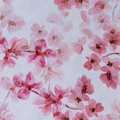 Canvas Stoff Kirschblüten Digitaldruck, altrosa beere weiß
