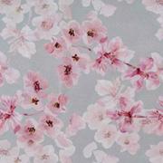Canvas Stoff Kirschblüten Digitaldruck, rosa hellgrau