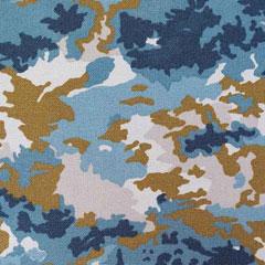 Canvas Stoff Camouflage, dunkelocker rauchblau