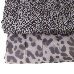 Steppstoff kleines Leoparden Muster gesteppt wattiert Stepper, dunkel taupe grau