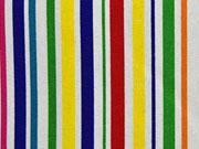 Canvas Stripes bunte Streifen auf weiss