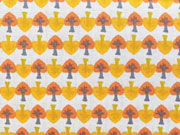 Popelin Sew me Up Bäume-gelb/orange/grau