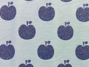 Jersey Glitter Apple, hellblau