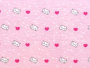 Jersey Herzen Briefumschläge Love Letters, rosa