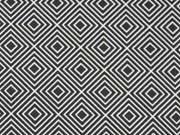 Baumwolle Squares, schwarz