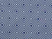 Baumwolle Squares, dunkelblau