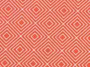 Baumwolle Squares, orange