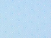 Baumwollstoff Quadrate Squares, hellblau