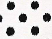 RESTSTÜCK  40 cm Dekostoff Kritzelpunkte, schwarz weiss