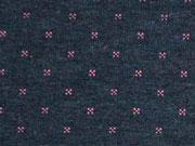 Gesteppter Jersey Doubleface rosa dunkelblau