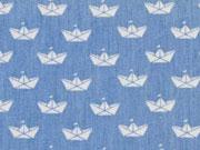 RESTSTÜCK 79 cm Leichter Jeans Schiffchen hellblau