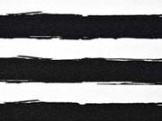 RESTSTÜCK 40 cm Dekostoff Painted Stripes, schwarz weiss