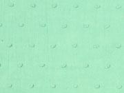 RESTSTÜCK 150 cm weicher Baumwollstoff Batist beflockt Punkte, mintgrün