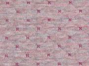 RESTSTÜCK 25 cm Gesteppter Jersey Doubleface, rosa