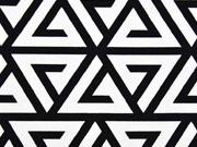 Dekostoff Triangle, schwarz weiss