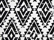 Dekostoff Diamonds Rauten, schwarz weiss