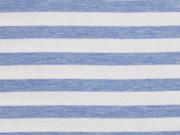 RESTSTÜCK 74 cm Sweat French Terry Streifen, hellblau weiß