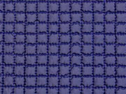 wattierter Steppstoff Kästchen, dunkelblau