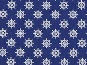 BW kleine Steuerräder, weiß dunkelblau