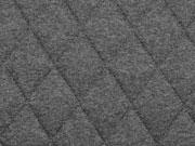 RESTSTÜCK 67cm Steppjersey wattiert, anthrazit