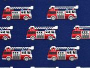RESTSTÜCK 21 cm Jersey Feuerwehrauto, dunkelblau