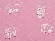 angerauter Sweat Eisbären, altrosa