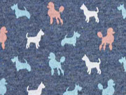 Jersey Dog Parade Hunde jeansblau meliert