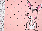 Jersey Bunny Love Panel 3 in 1, rosa