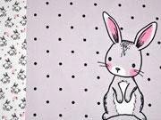 Jersey Hasen Bunny Love Panel 3 in 1, grau