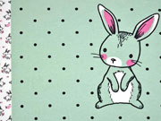 Jersey Hasen Bunny Love Panel 3 in 1, mint
