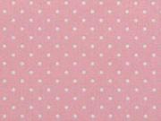 RESTSTÜCK 33 cm Baumwollstoff Petite Dots kleine Punkte, rosa
