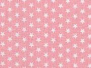 Baumwollstoff Mini Stars kleine Sterne, rosa