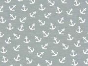 Jersey kleine Anker, grau