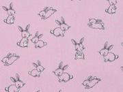 Baumwolle kleine Hasen Sweeties, rosa