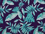 Badehosen Stoff tropische Blätter