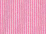 Seersucker Baumwolle schmale Streifen, rosa