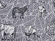 Canvas Tiere Afrika Safari, grau