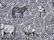 Canvas Tiere Afrika Safari, grau
