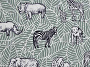 Canvas Tiere Afrika Safari, mattes mint