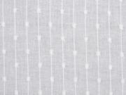 RESTSTÜCK 81 cm Baumwollstoff Batist  Streifen Punkte weiss