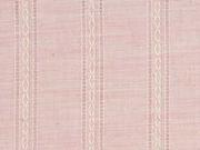 RESTSTÜCK 79 cm Baumwolle Dobby geflochtene Streifen, lachsrosa