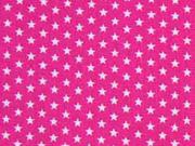 Baumwollstoff Mini Stars kleine Sterne, pink