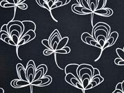 Canvas Gingko Blätter, schwarz
