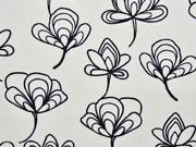 Canvas Gingko Blätter, weiss