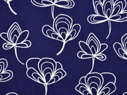 Canvas Gingko Blätter, dunkelblau