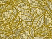 Canvas Blätter, currygelb