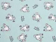 Baumwolle kleine Maus Baby Mouse, mint
