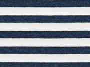 RESTSTÜCK 17 cm garngefärbter French Terry Streifen, navy meliert